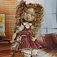 Маленькая Алиса . Кукла авторская коллекционная.  Кукольные нежности от Ариши . Ярмарка мастеров.