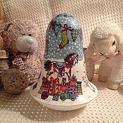 Подарки к праздникам ручной работы. Ярмарка Мастеров - ручная работа Колокольчик-неваляшка новогодний. Handmade.