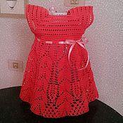 Работы для детей, ручной работы. Ярмарка Мастеров - ручная работа Платье крючком для девочки. Handmade.