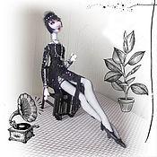 Куклы и игрушки handmade. Livemaster - original item Doll: Black and white cinema. Handmade.