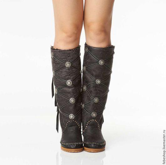 Обувь ручной работы. Ярмарка Мастеров - ручная работа. Купить Зимние сапоги на овчине ROMBO /35-36 в наличии/. Handmade.
