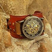 Украшения ручной работы. Ярмарка Мастеров - ручная работа Наручные часы Indiana, часы наручные на широком кожаном браслете. Handmade.
