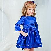 Работы для детей, ручной работы. Ярмарка Мастеров - ручная работа Royal Blue нарядное платье. Handmade.
