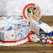 Атрибутика ручной работы. Ярмарка Мастеров - ручная работа Бумажный торт Морской стиль, праздник, морская вечеринка. Handmade.