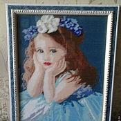 """Картины и панно ручной работы. Ярмарка Мастеров - ручная работа """"Девочка с бантом"""". Handmade."""