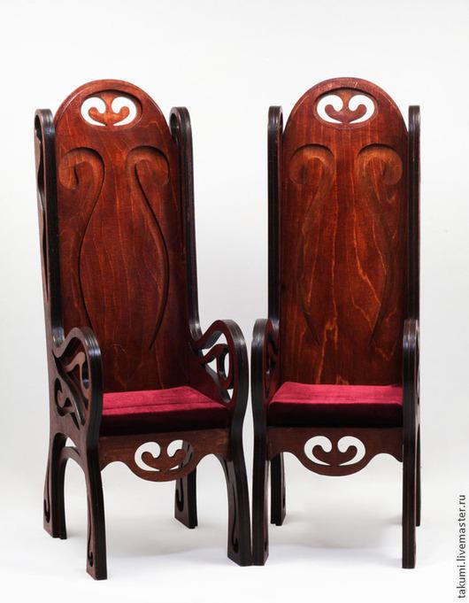 Кукольный дом ручной работы. Ярмарка Мастеров - ручная работа. Купить Кресло для куклы с высокой спинкой (модель 03). Handmade.