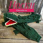 Носки ручной работы. Ярмарка Мастеров - ручная работа Носки крокодилы. Handmade.