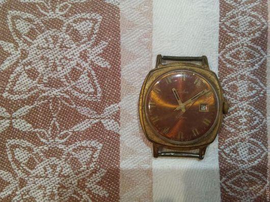 """Винтажная одежда и аксессуары. Ярмарка Мастеров - ручная работа. Купить мужские часы """"Слава"""" винтаж. Handmade. Коричневый, часы мужские"""