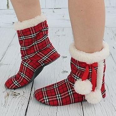 """Обувь ручной работы. Ярмарка Мастеров - ручная работа Домашние угги """"Из Шотландии с любовью"""". Handmade."""