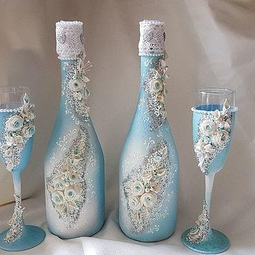 Свадебный салон ручной работы. Ярмарка Мастеров - ручная работа Бокалы: и шампанское на свадьбу , торжество. Handmade.