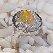 Украшения handmade. Livemaster - original item Silver ring with a magnificent opal.. Handmade.