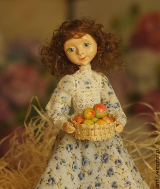 Коллекционные куклы ручной работы. Ярмарка Мастеров - ручная работа. Купить Любочка с Яблоками Кукла авторская. Handmade. Кукла, любочка