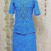 Одежда ручной работы. Ярмарка Мастеров - ручная работа юбочный костюм ирландское кружево(2). Handmade.