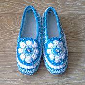 handmade. Livemaster - original item Slippers crochet Snezhana. Handmade.