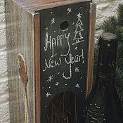 """Подарки к праздникам handmade. Livemaster - original item Wine box """"Merry Christmas"""". Handmade."""