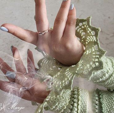 Accessories handmade. Livemaster - original item Cuff -sleeve knitted wool. Handmade.