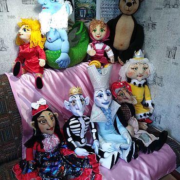 Куклы и игрушки ручной работы. Ярмарка Мастеров - ручная работа Спектакль из 9 планшетных кукол.. Handmade.