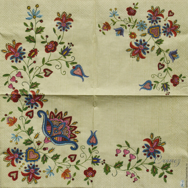 Napkins for decoupage russian patterns print \u2013 купить на Ярмарке Мастеров \u2013  CV2Y3COM