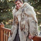 Одежда ручной работы. Ярмарка Мастеров - ручная работа мужское пальто из волка. Handmade.