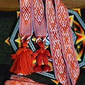 """Русский стиль ручной работы. Ярмарка Мастеров - ручная работа """"Венчальный Союз"""" -Тканый пояс. Handmade."""