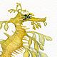 Морской конек. Морской дракон. Серия Морские жители. акварель, размер 17см*17см, бумага Canson 100% хлопок 300 г/м2, Светлана Маркина, LechuzaS