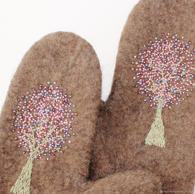 Warm winter felted mittens, Mittens, Yoshkar-Ola,  Фото №1