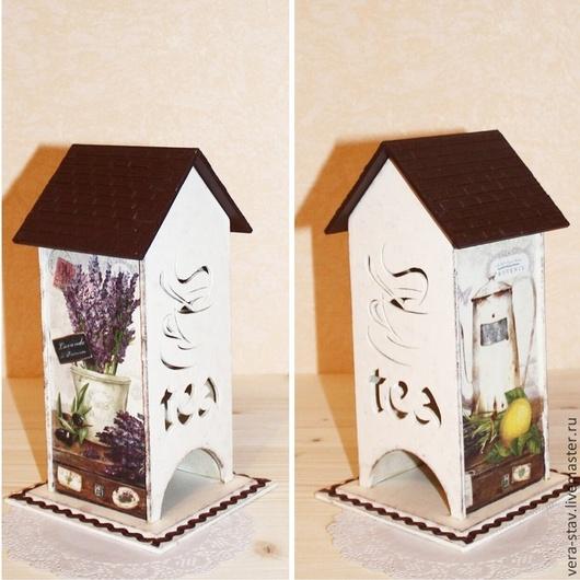 Персональные подарки ручной работы. Ярмарка Мастеров - ручная работа. Купить Чайный домик. Handmade. Кремовый, коричневый, чайный домик