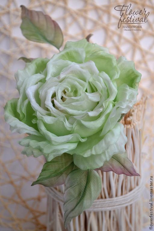"Роза ""Green Rose""  из шелка, Цветы, Санкт-Петербург, Фото №1"