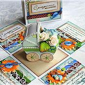 """Открытки ручной работы. Ярмарка Мастеров - ручная работа Magic Box - открытка  """"С рождением мальчика!"""". Handmade."""