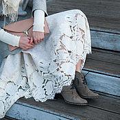 Одежда handmade. Livemaster - original item Felted skirt snowstorm. Handmade.