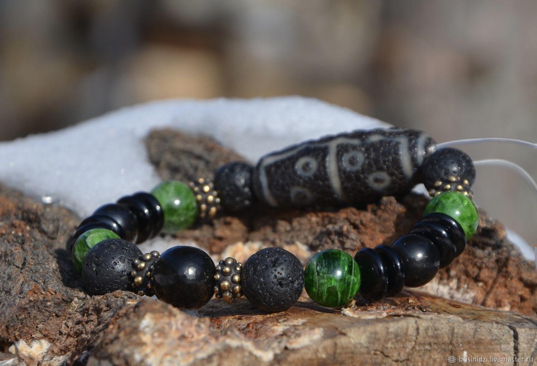Bracelet Personal mascot 'emerald Night', Bead bracelet, Pereslavl-Zalesskij,  Фото №1