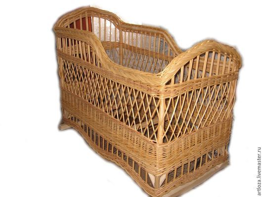 Детская ручной работы. Ярмарка Мастеров - ручная работа. Купить Детская кроватка плетеная из натуральной лозы. Handmade. Кроватка, кровать
