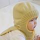 Для новорожденных, ручной работы. Шапка шлем трансформер. Наталья (babbie). Интернет-магазин Ярмарка Мастеров. Шапочка вязаная