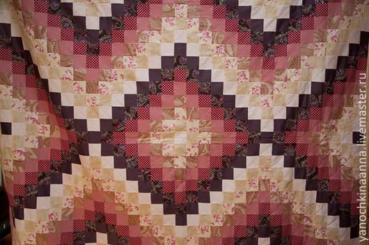 """Текстиль, ковры ручной работы. Ярмарка Мастеров - ручная работа. Купить Лоскутное покрывало """"Вишневый джем"""". Handmade. Плед, бордовый"""