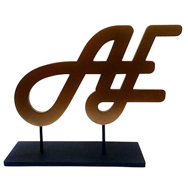 Для дома и интерьера ручной работы. Ярмарка Мастеров - ручная работа Монограмма металлическая, лазерная резка. Handmade.