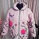 """Верхняя одежда ручной работы. Ярмарка Мастеров - ручная работа. Купить Эко-куртка из льна """"Весенняя"""". Handmade. Розовый, лен"""