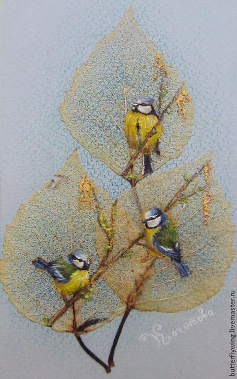 """Животные ручной работы. Ярмарка Мастеров - ручная работа. Купить """"Весенний перезвон"""". Handmade. Зеленый, голубой, Крыло бабочки"""