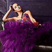 """Одежда ручной работы. Ярмарка Мастеров - ручная работа Роскошная юбка из фатина """"Purple"""". Handmade."""