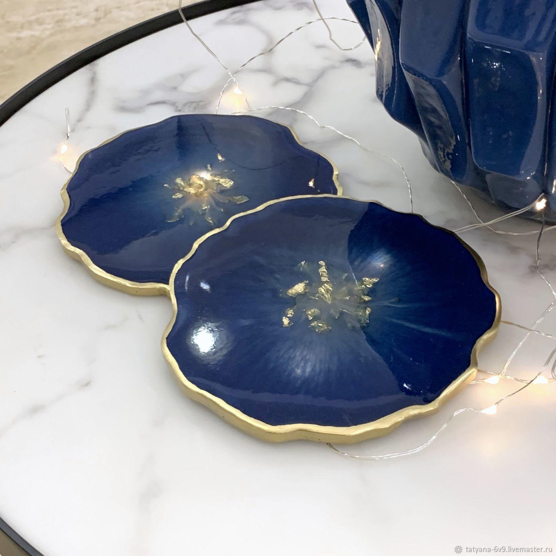 Подставка под бокалы, чашки: синий, Новогодние сувениры, Москва,  Фото №1