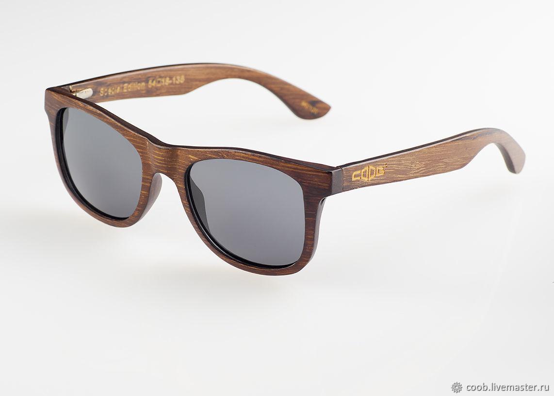 Очки ручной работы. Ярмарка Мастеров - ручная работа. Купить Бамбуковые многослойные солнцезащитные очки S6016 с поляризацией. Handmade. Очки
