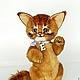 Мишки Тедди ручной работы. Ярмарка Мастеров - ручная работа. Купить Somali cat. Кот Сомали. Коллекционная игрушка тедди. Handmade.