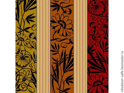 Декупаж и роспись ручной работы. Ярмарка Мастеров - ручная работа. Купить Коричневый цветочный орнамент (SLOG006801) 33х33 салфетка для декупажа. Handmade.
