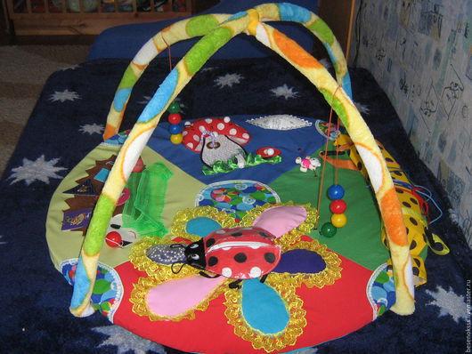 Развивающие игрушки ручной работы. Ярмарка Мастеров - ручная работа. Купить Развивающий коврик. Handmade. Развивающая игрушка, подарок для ребенка