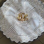 Для дома и интерьера handmade. Livemaster - original item Lunch mat with a festoon edge. Handmade.