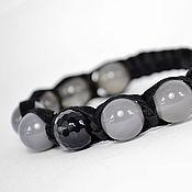 Украшения handmade. Livemaster - original item Bracelet Shambhala made of suede with natural stones. Handmade.