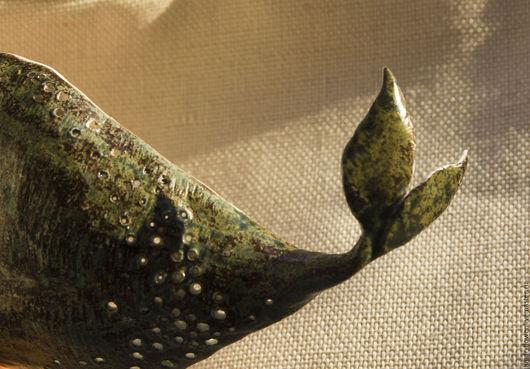 Декоративная посуда ручной работы. Ярмарка Мастеров - ручная работа. Купить Керамическая миска Китовая. Handmade. Миска, море, глазурь