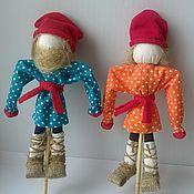 Куклы и игрушки ручной работы. Ярмарка Мастеров - ручная работа Кулачники развивающие куклы для мальчиков. Handmade.