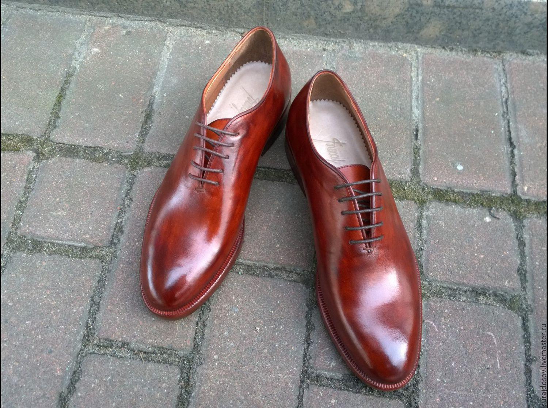 4c4958a72 Обувь ручной работы. Ярмарка Мастеров - ручная работа. Купить Туфли мужские  цельнокроеные.