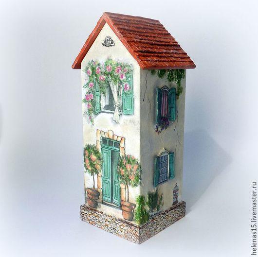 Кухня ручной работы. Ярмарка Мастеров - ручная работа. Купить Чайный домик Villa belle Домик для чайных пакетов Декупаж 3D. Handmade.