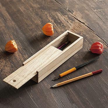 Канцелярские товары ручной работы. Ярмарка Мастеров - ручная работа Пенал из дерева. Handmade.